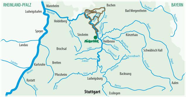 Fahrradtour Bad Wimpfen Radblume 2